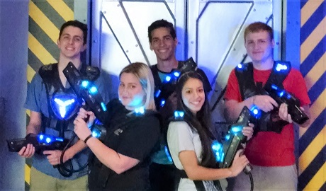 We are the West Banks' only laser tag center with room for 200 or more guests.